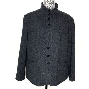 Ralph Lauren herringbone multi button blazer XXL